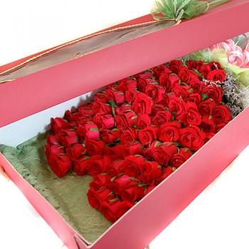 100송이꽃박스(하트형)
