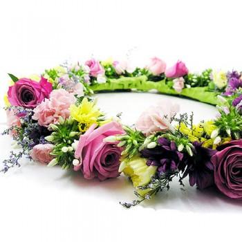 장미꽃목걸이