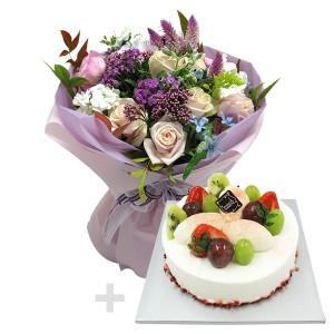 케익+꽃다발3호