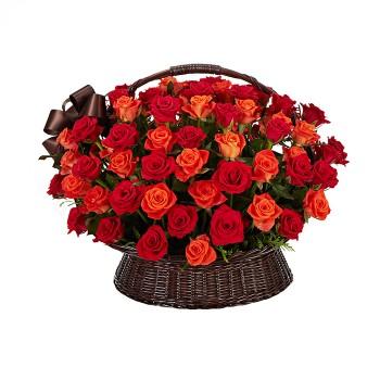 100송이장미_In full blossom (red+orange)