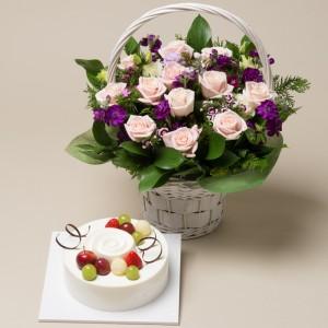 케익+꽃바구니9호
