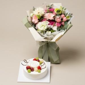 케익+꽃다발2호
