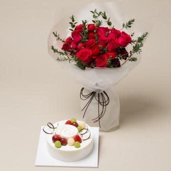 케익+꽃다발4호